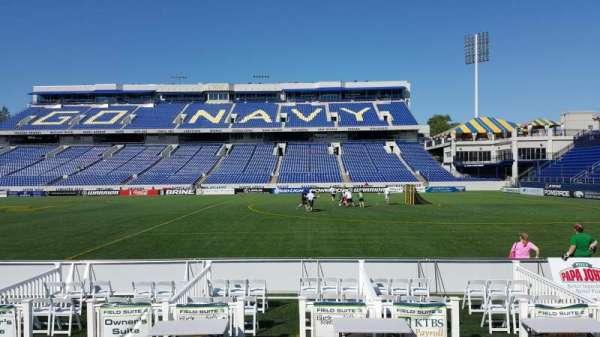 Navy-Marine Corps Memorial Stadium, section: 2, row: E, seat: 1