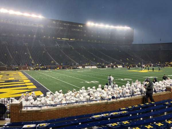 Michigan Stadium, section: 6, row: 9, seat: 26