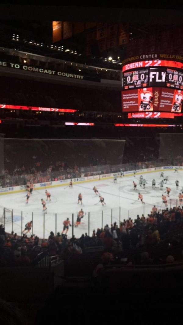 Wells Fargo Center, section: Club Box 22, row: 6, seat: 1