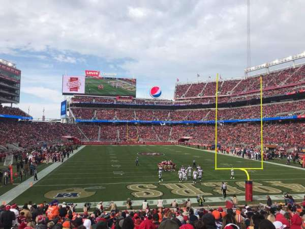 Levi's Stadium, section: 128, row: 19, seat: 17