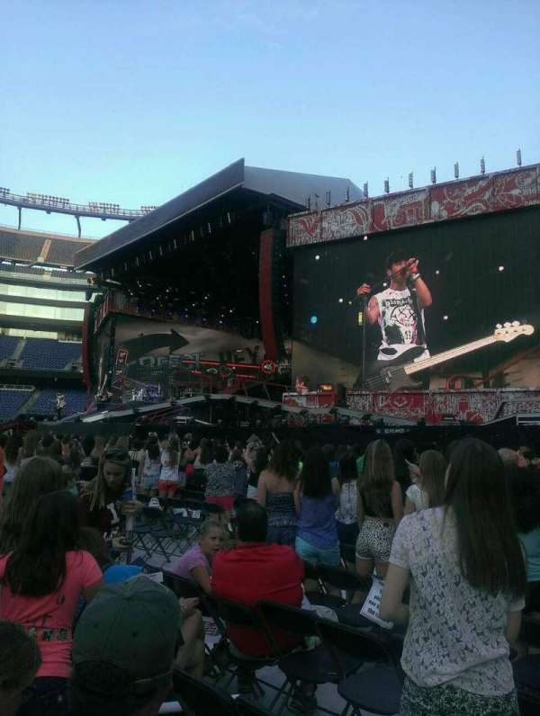 Gillette Stadium, section: A1, row: 13, seat: 4