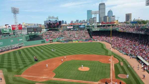 Fenway Park, section: Pavilion Box 2, row: B, seat: 5,6,7