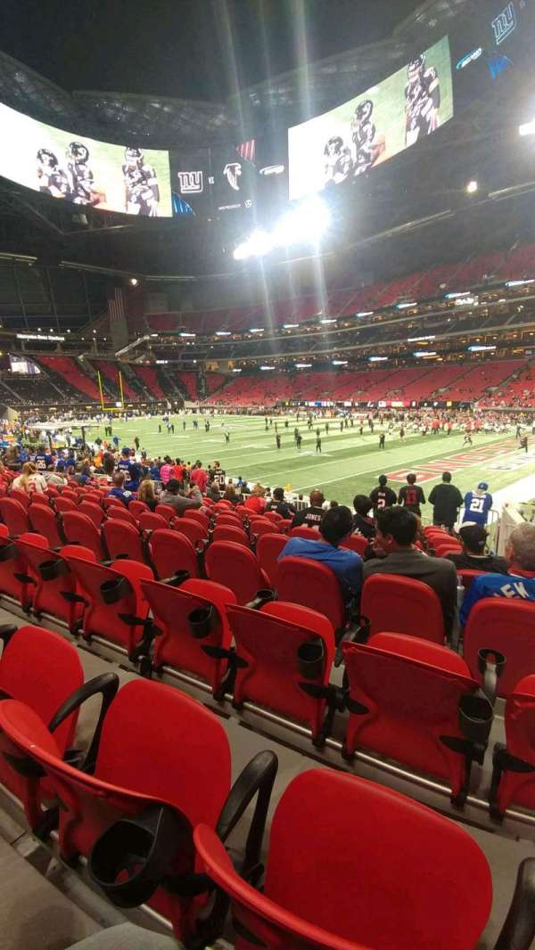 Mercedes-Benz Stadium, section: 123, row: 14, seat: 2