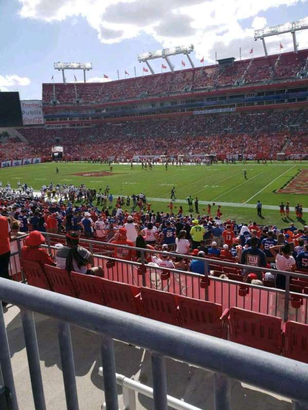 Raymond James Stadium, section: 240, row: A, seat: 10