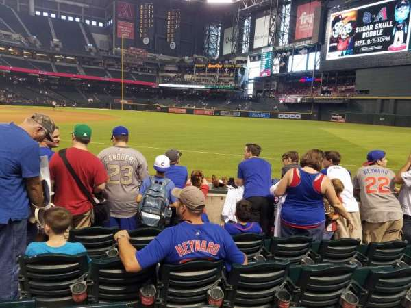 Chase Field, section: 112, row: 3, seat: 3