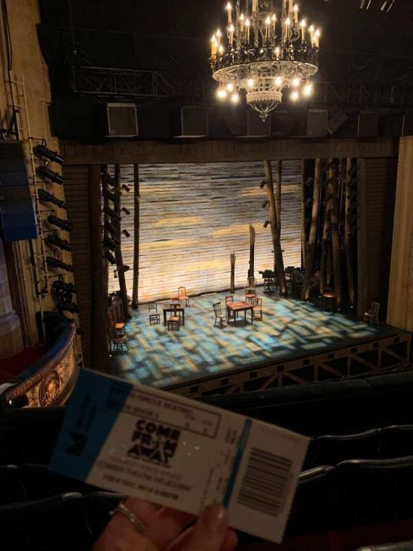 Comedy Theatre, section: DRESS CIRCLE, row: D, seat: 8