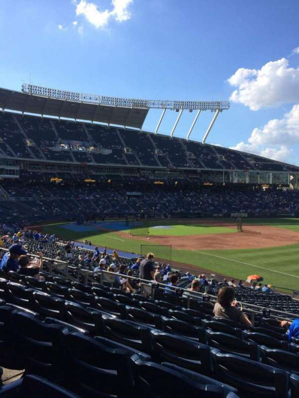 Kauffman Stadium, section: 242, row: GG, seat: 12