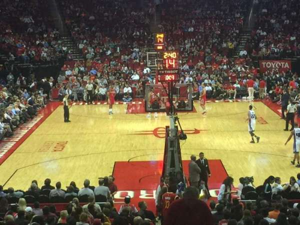 Toyota Center, section: 101, row: 18, seat: 1