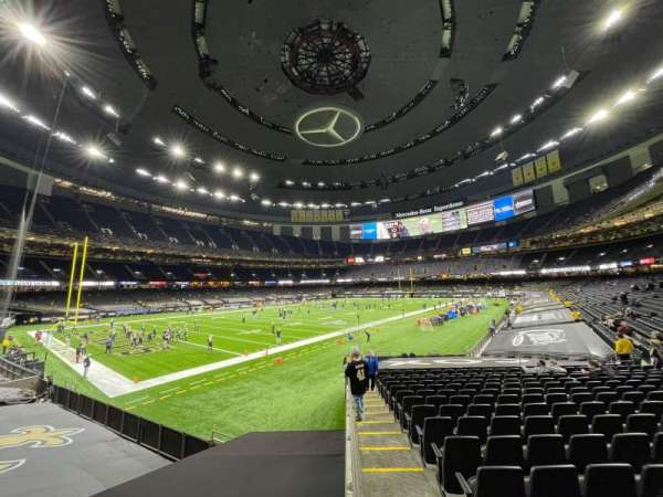Caesars Superdome, section: 121, row: 23, seat: 22