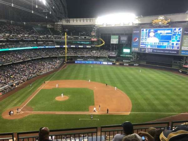 Miller Park, section: 415, row: 4, seat: 7