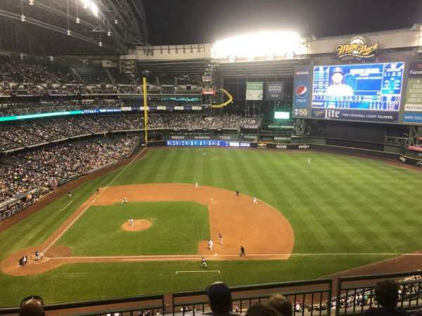 Miller Park, section: 415, row: 4, seat: 8