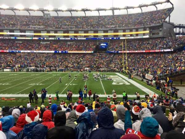 Gillette Stadium, section: 106, row: 20, seat: 8
