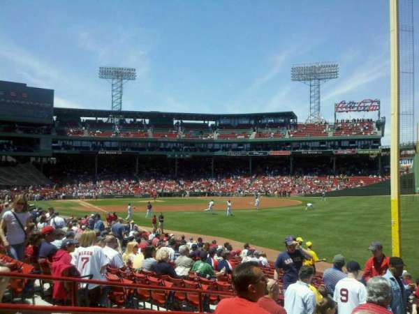Fenway Park, section: Right Field Box 93, row: MM, seat: 16