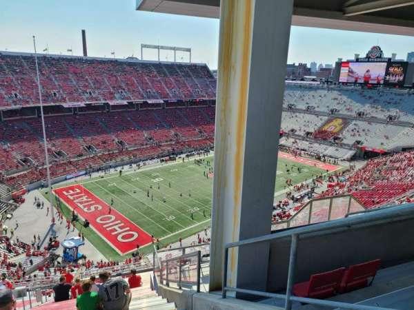 Ohio Stadium, section: 11C, row: 34, seat: 25