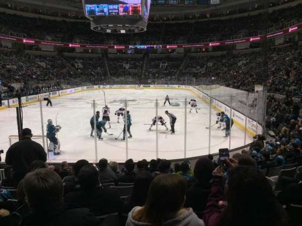 SAP Center, section: 121, row: 11, seat: 6