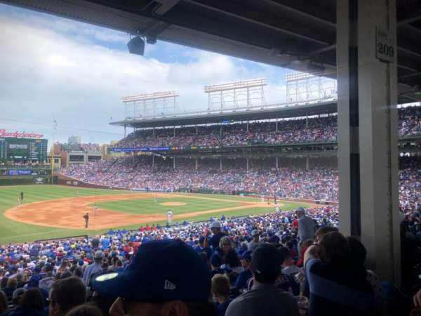 Wrigley Field, section: 208, row: 9, seat: 14