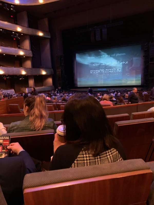 Winspear Opera House, section: OTERRR, row: W, seat: 4