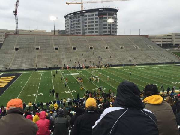 Kinnick Stadium, section: 129, row: 46, seat: 8