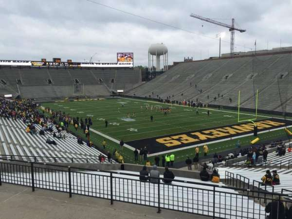 Kinnick Stadium, section: 221, row: 2, seat: 8