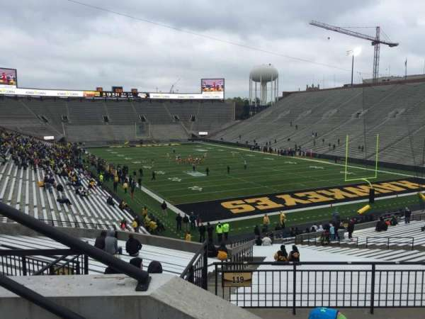 Kinnick Stadium, section: 220, row: 2, seat: 10
