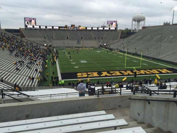 Kinnick Stadium, section: 218, row: 10, seat: 8