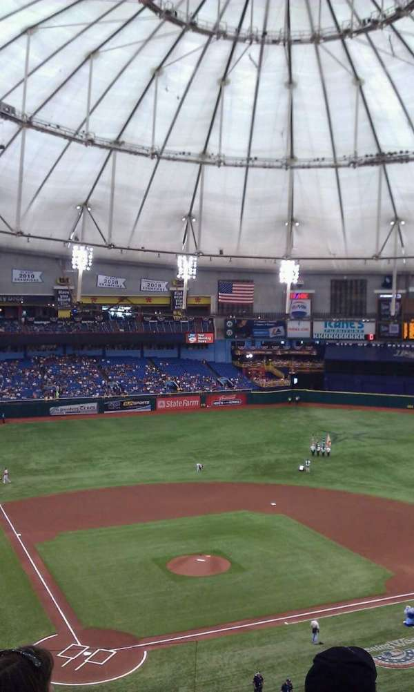 Tropicana Field, section: 306, row: g, seat: 1