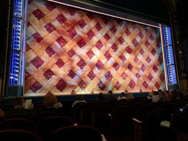 Brooks Atkinson Theatre, section: Orchestra L, row: G, seat: 3