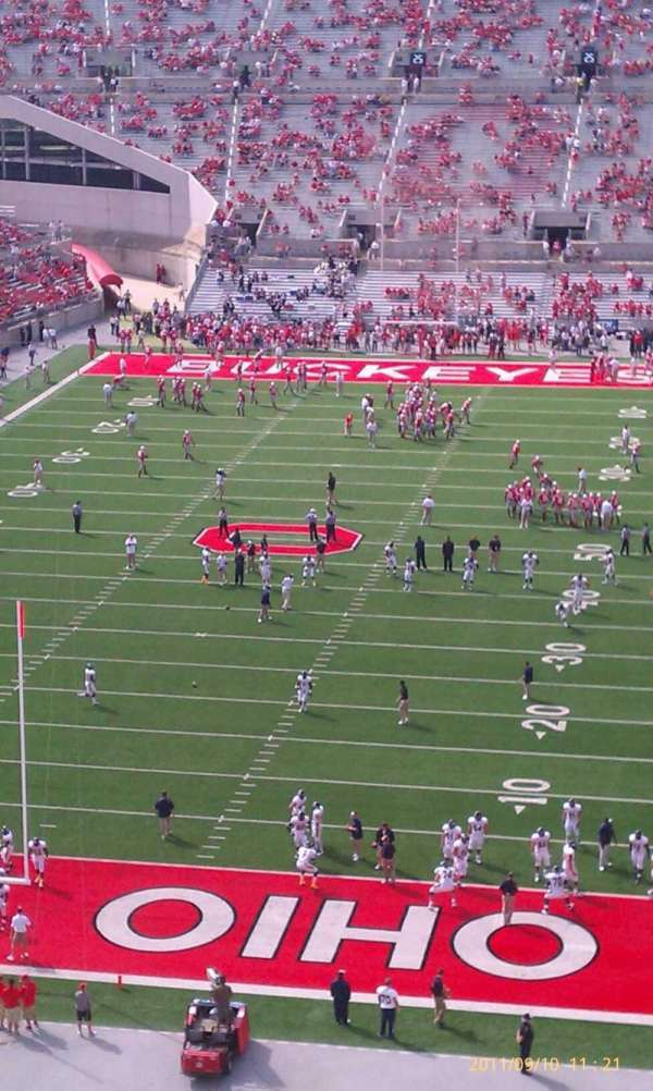 Ohio Stadium, section: 3c, row: 18, seat: 34