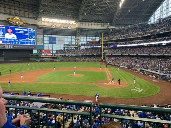 Miller Park, section: 222, row: 2, seat: 9