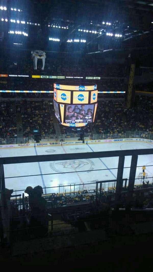 Bridgestone Arena, section: 308, row: J, seat: 1