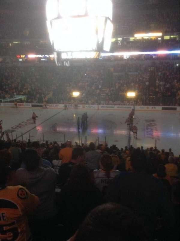 Bridgestone Arena, section: 106, row: P, seat: 1