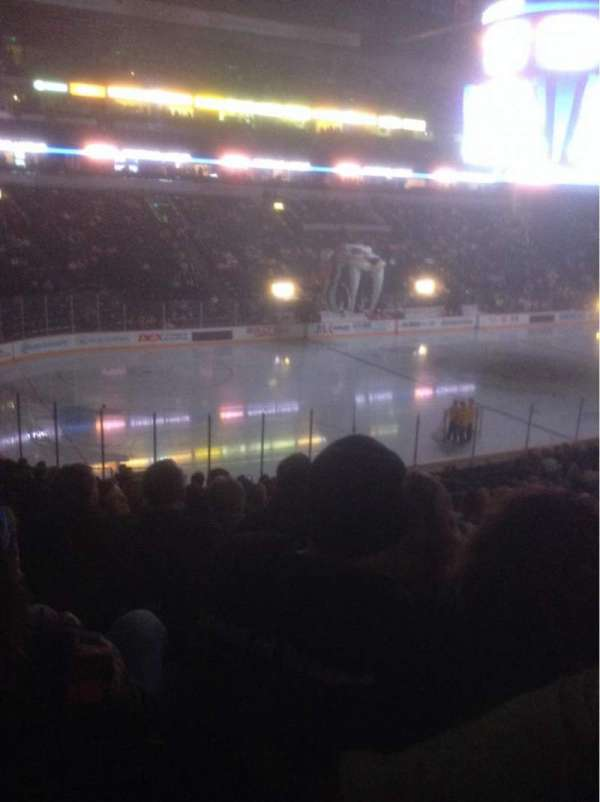 Bridgestone Arena, section: 103, row: P, seat: 13