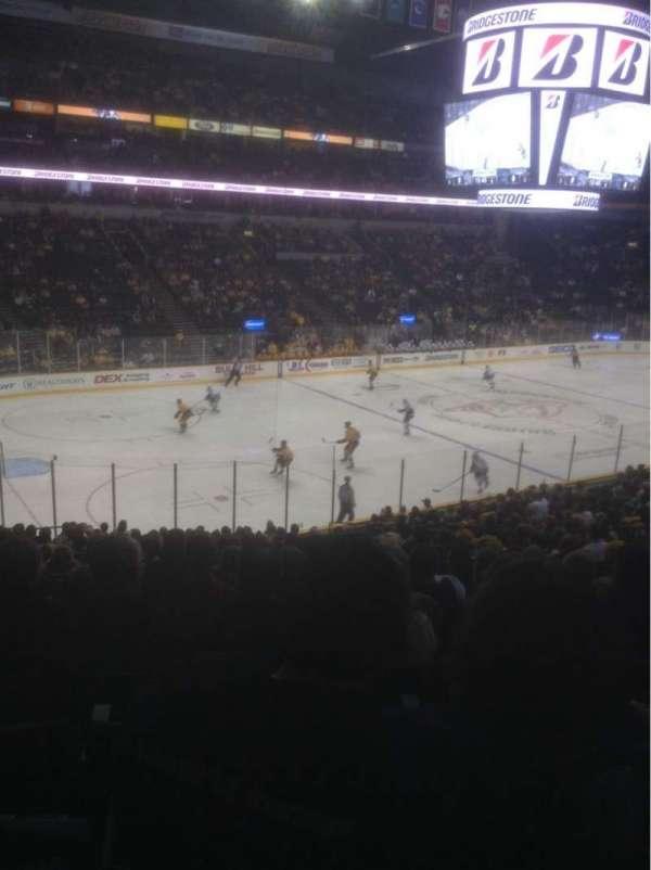 Bridgestone Arena, section: 103, row: P, seat: 13
