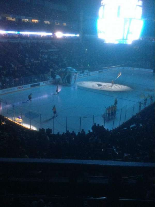 Bridgestone Arena, section: 204, row: A, seat: 12