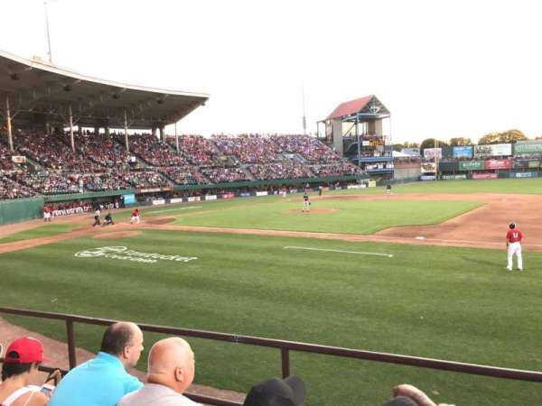 McCoy Stadium, section: 1, row: C, seat: 1