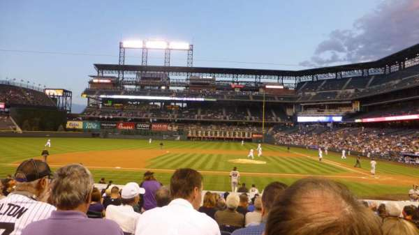 Coors Field, section: 137, row: 19, seat: 10