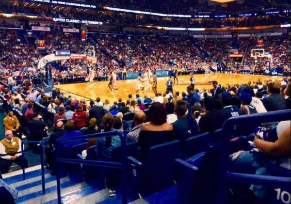 Smoothie King Center, section: 103, row: 11, seat: 1