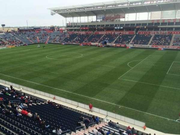 SeatGeek Stadium, section: 203, row: 1, seat: 7