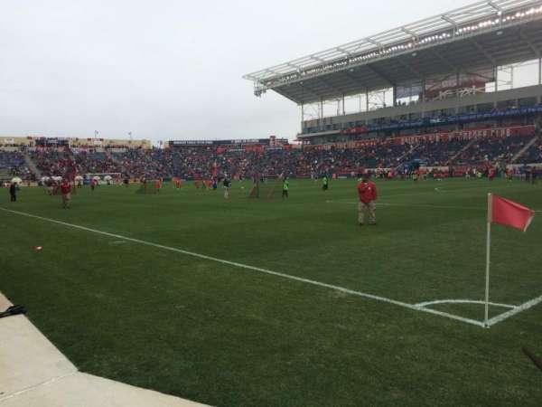SeatGeek Stadium, section: 102, row: 1, seat: 1