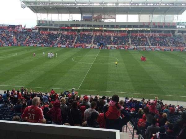SeatGeek Stadium, section: 107, row: 15, seat: 1