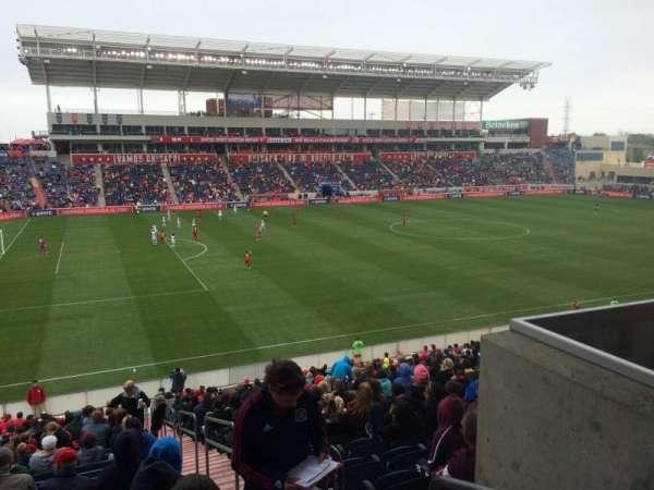 SeatGeek Stadium, section: 111, row: 27, seat: 1