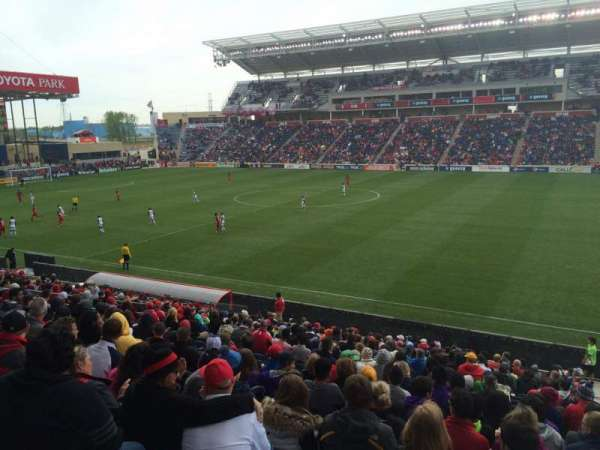 Toyota Park, section: 126, row: 20, seat: 1