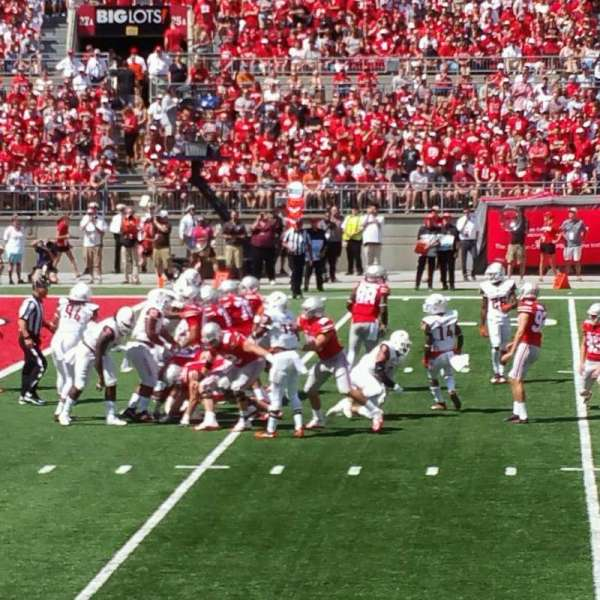 Ohio Stadium, section: 26aa, row: 8, seat: 9