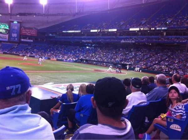 Tropicana Field, section: 119, row: P, seat: 8