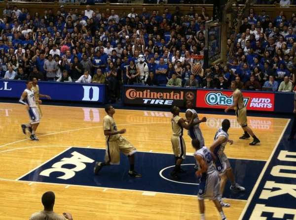 Cameron Indoor Stadium, section: 9, row: A, seat: 9