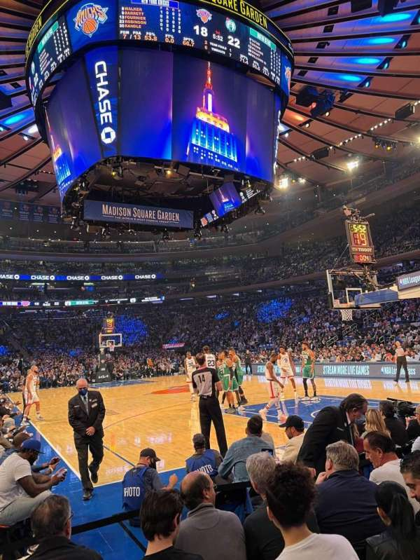 Madison Square Garden, section: 1, row: 4, seat: 3