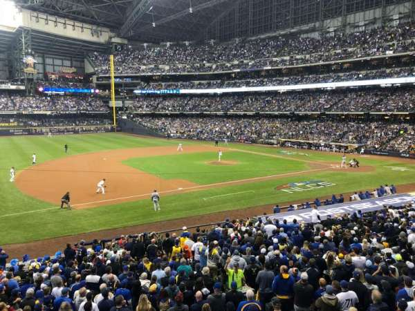 Miller Park, section: 226, row: 1, seat: 10