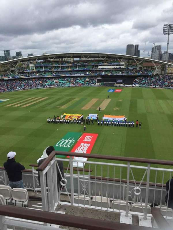 Kia Oval, section: Pavilion Top, row: F, seat: 12
