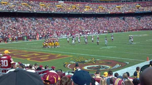 FedEx Field, section: 106, row: 10, seat: 12