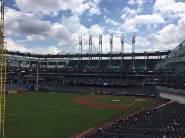Progressive Field, section: 338, row: B, seat: 4